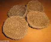4 x COCONUT FIBRE NESTS - NEST LINER FOR BIRDS - CANARY